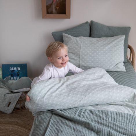 Little Dutch Bettbezug Lily Leaves Mint 100 x 140