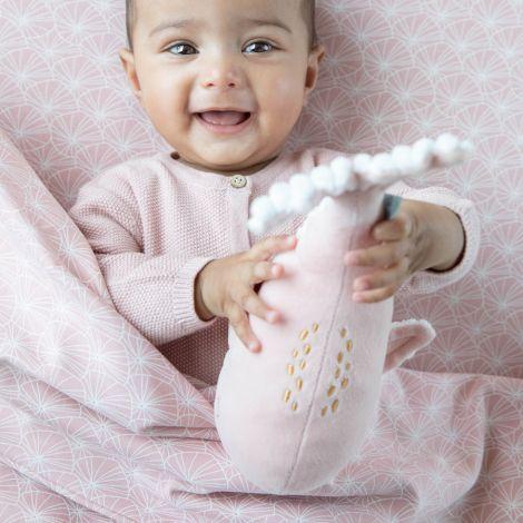Little Dutch Bettbezug Lily Leaves Pink 100 x 140