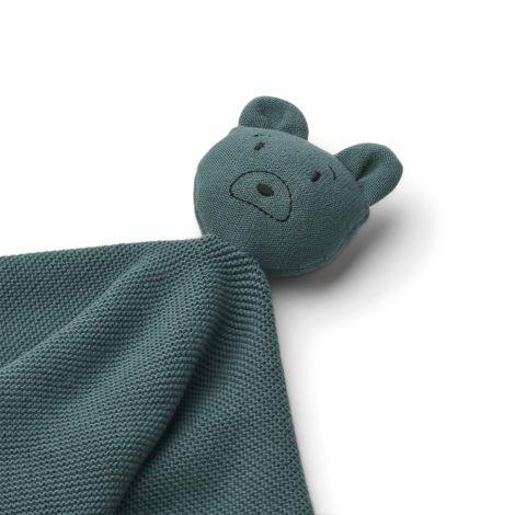 LIEWOOD Schmusetuch gestickt Milo Mr Bear Whale Blue