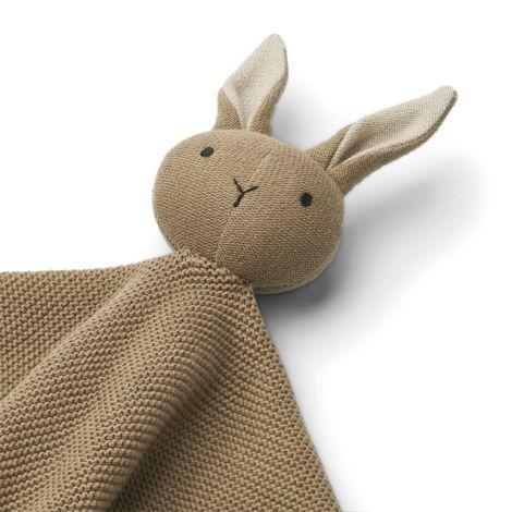 LIEWOOD Schmusetuch gestickt Milo Rabbit Oat
