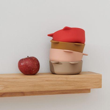LIEWOOD Schüssel Malene Silikon Apple Red/Tuscany Rose Multi Mix 4er-Set