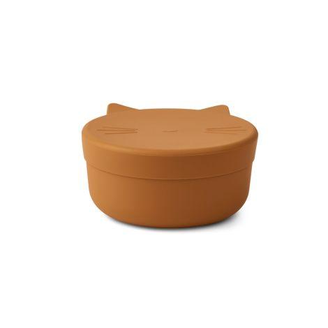 LIEWOOD Snack-Dose Cornelius Cat Mustard