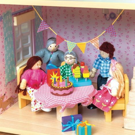 Le Toy Van Geburstags-Party Set Puppenhaus & Eisauto Zubehör