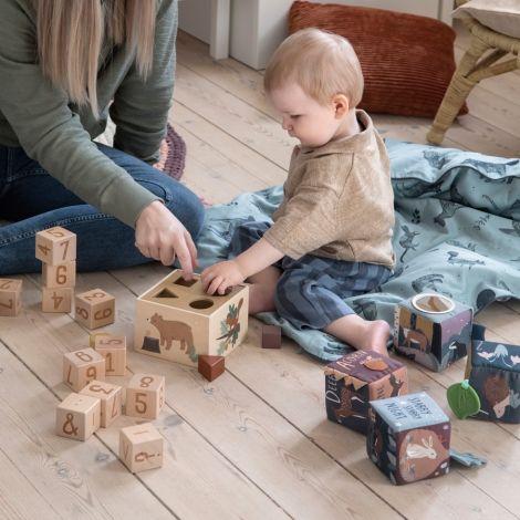 Sebra Formensteckspiel aus Holz Nightfall