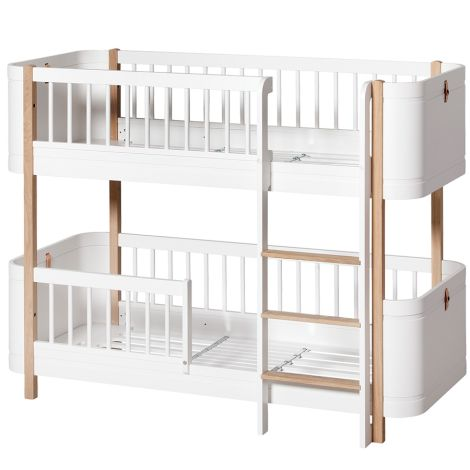 Oliver Furniture Wood Mini+ halbhohes Etagenbett Weiß/Eiche