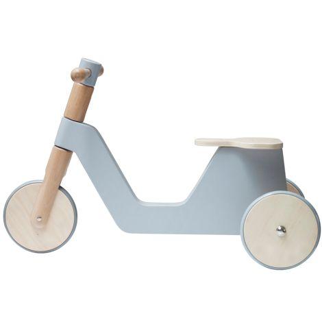 Sebra Holz Roller Laufrad Grau •