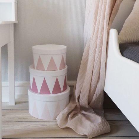 JaBaDaBaDo Aufbewahrungsbox Rund Pink 3er-Set
