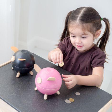 PlanToys Spardose Schwein Weiß