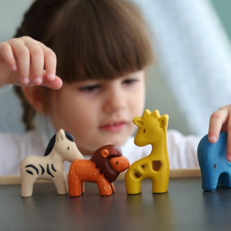 PlanToys Wildtier-Set 4-teilig