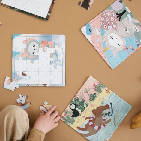 Fabelab Puzzle 4 Seasons 4er-Set/je 16-teilig