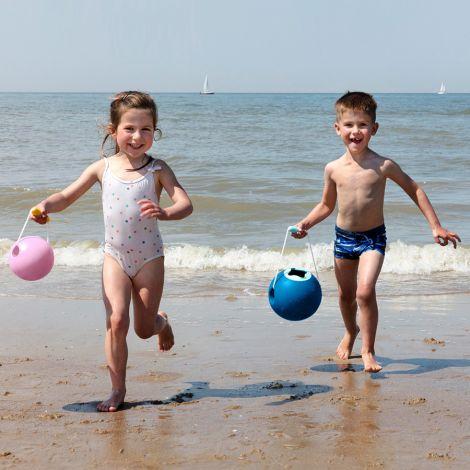 Quut Eimer Ballo in Kugelform Meeresblau 16 cm