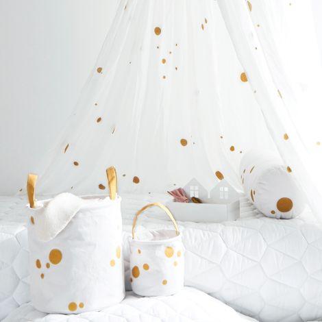 Roommate Aufbewahrungskorb Gold/Off-White 2er-Set