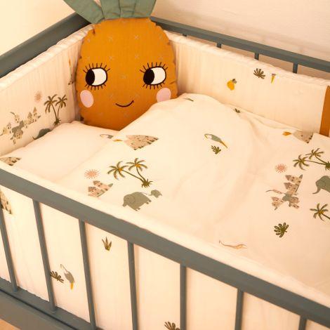 Roommate Kinderbettpolster Tropical Bio-Baumwolle