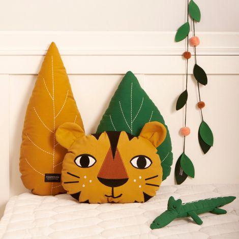 Roommate Kissen Leaf Ochre Bio-Baumwolle