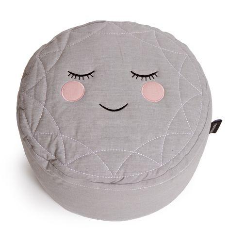 Roommate Pouf Sitzkissen Grey Bio-Baumwolle