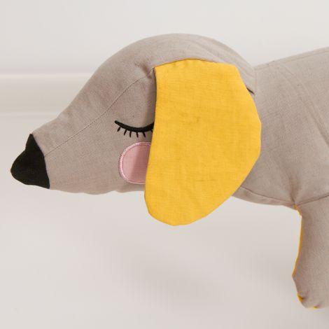 Roommate Kuscheltier Lazy Puppy Grey Bio-Baumwolle