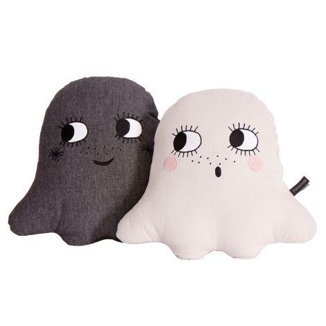 Roommate Kissen Ghost Anthracite Bio-Baumwolle