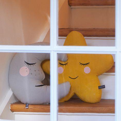 Roommate Kissen Moon Grey Bio-Baumwolle