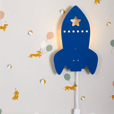 Roommate Lampe Rocket Blue