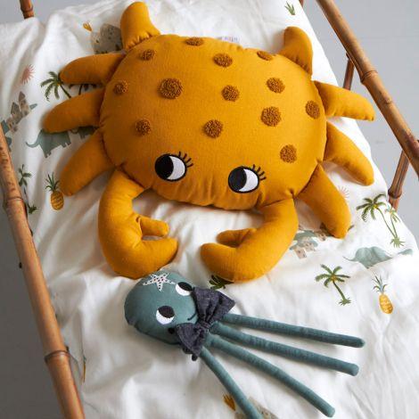 Roommate Kissen Crab Ochre Bio-Baumwolle
