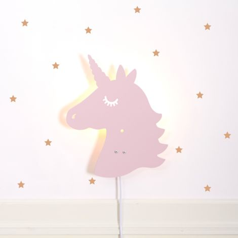 Roommate Lampe Unicorn Pale Rose