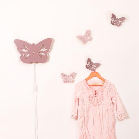 Roommate Wandhaken Butterfly Pale Rose •
