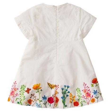 Room Seven Kleid Damamo Fleur Des Champs White