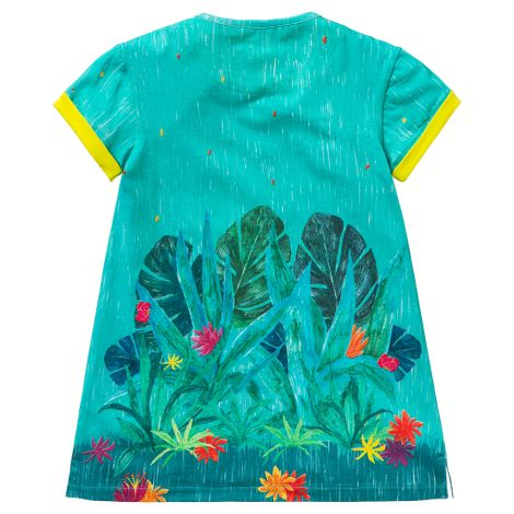 Room Seven Jersey-Kleid Tatou Jungle Light Blue