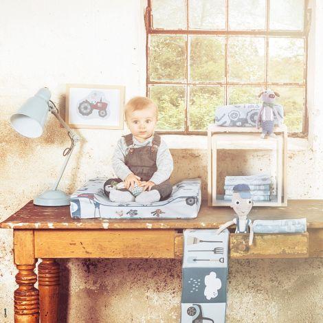Sebra Spucktücher Farm Boy 4er-Set