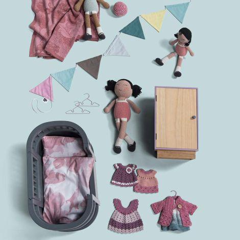 Sebra Puppenkleid Lila 30 cm