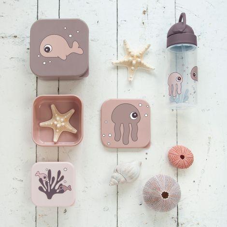 Done by Deer Trinkflasche mit Strohhalm Sea Friends Rosa