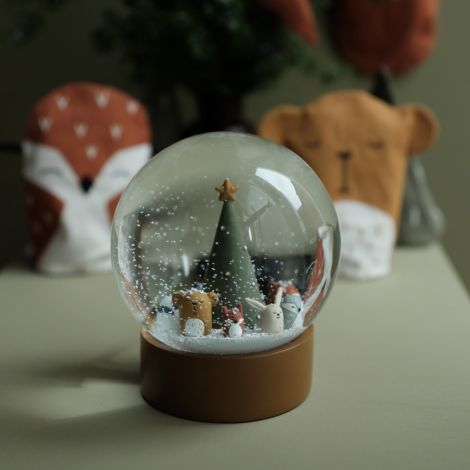 Fabelab Schneekugel Woodland Animal Christmas