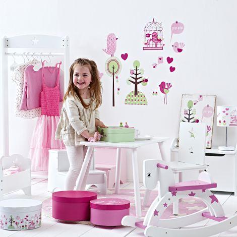 Kids Concept Wandlampe Vogel Rosa
