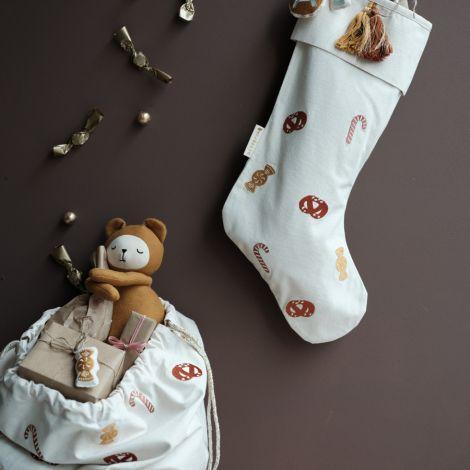 Fabelab Weihnachsstrumpf Candy Bestickt Bio-Baumwolle