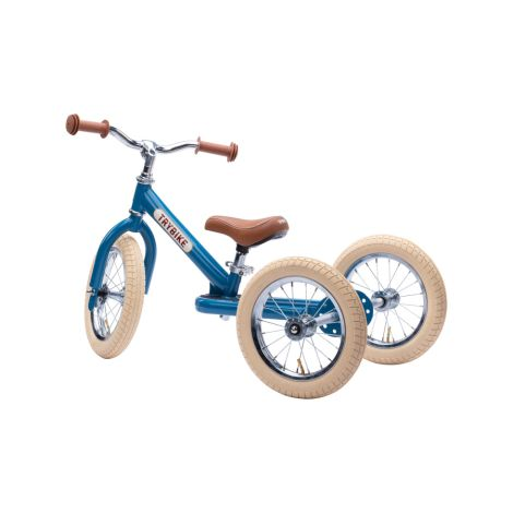 Trybike Dreirad / Laufrad Steel Vintage Blue 2 in 1