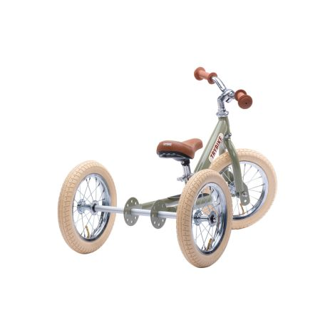 Trybike Dreirad / Laufrad Steel Vintage Green  2 in 1