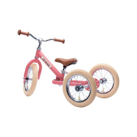Trybike Dreirad / Laufrad Steel Vintage Pink 2 in 1