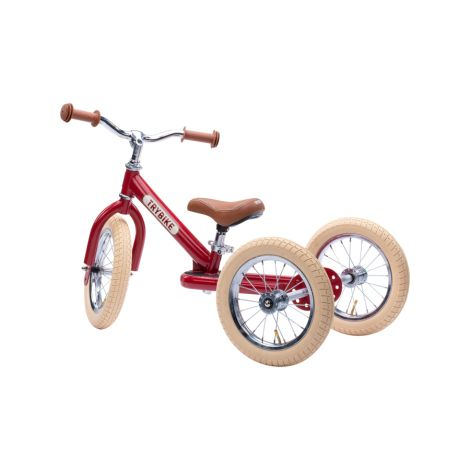 Trybike Dreirad / Laufrad Steel Vintage Red  2 in 1