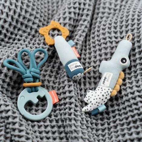 Done by Deer Geschenkset Tiny Toys Deer Friends Blau