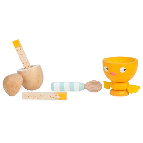 "Le Toy Van Holz-Eierbecher-Set ""Chicky-Chick"""