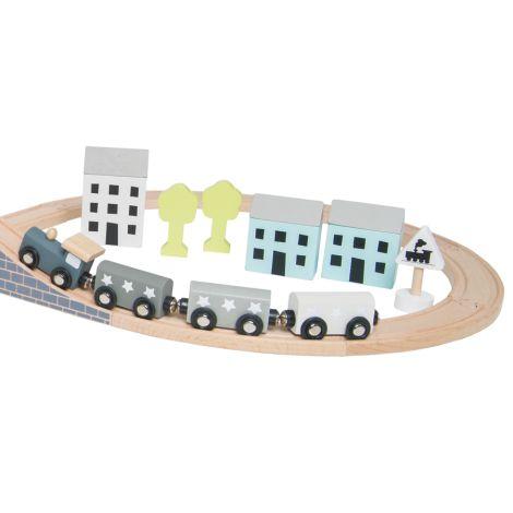 JaBaDaBaDo Holzeisenbahn-Set 36-teilig