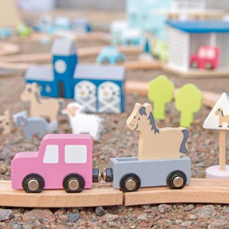 JaBaDaBaDo Auto-Spiel-Set Pink mit viel Zubehör