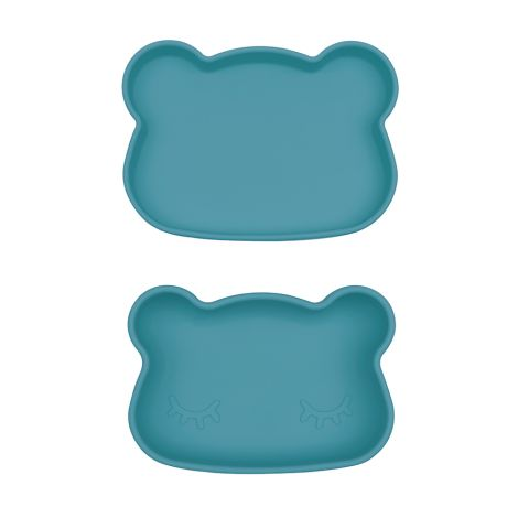 We Might Be Tiny Lunchbox Brotdose Snackies Bär dunkel Blau