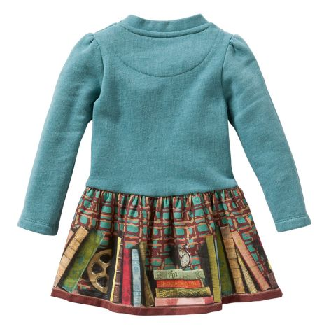 Oilily Pullover Kleid Hupz Plain Green With Rock Fox And Books Green