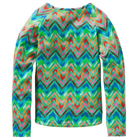 Oilily Langarm-Shirt Tumble All-Over Zigzag Green