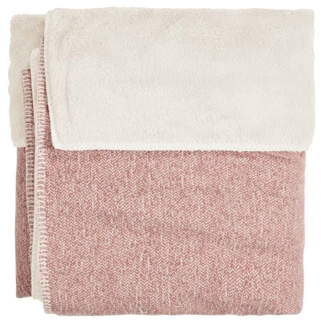 Koeka Decke Vigo Teddy Old Pink/Pebble