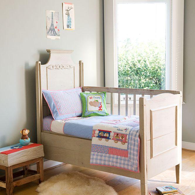 room seven bettw sche train with animals blau rot. Black Bedroom Furniture Sets. Home Design Ideas