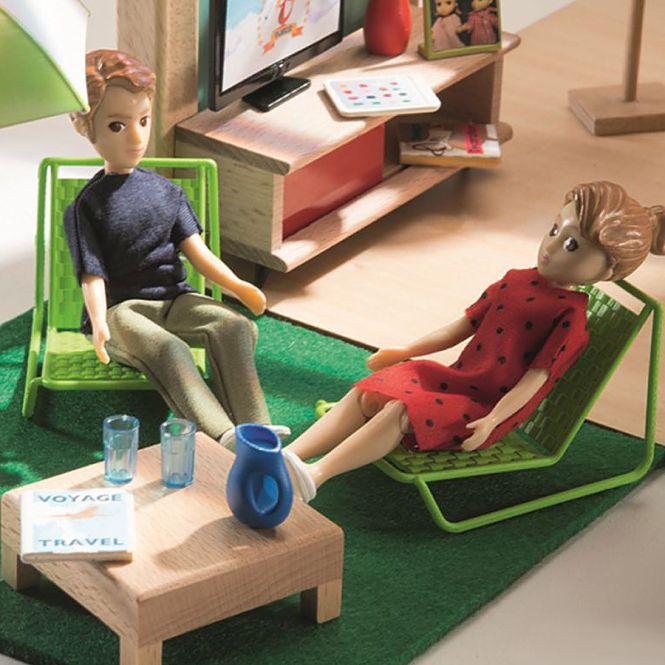 djeco puppenhaus cubic house online kaufen emil paula kids. Black Bedroom Furniture Sets. Home Design Ideas