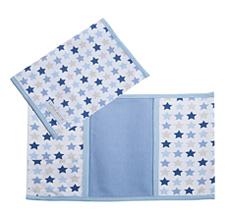 LITTLE DUTCH 1259 Spannbetttuch Wiege Mixed Stars Blue Gr/ö/ße 40 x 80 cm
