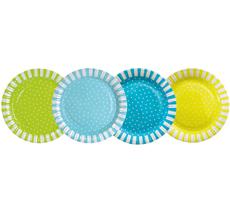 Kindergeburtstag jetzt online bestellen emilundpaula Pappteller blau